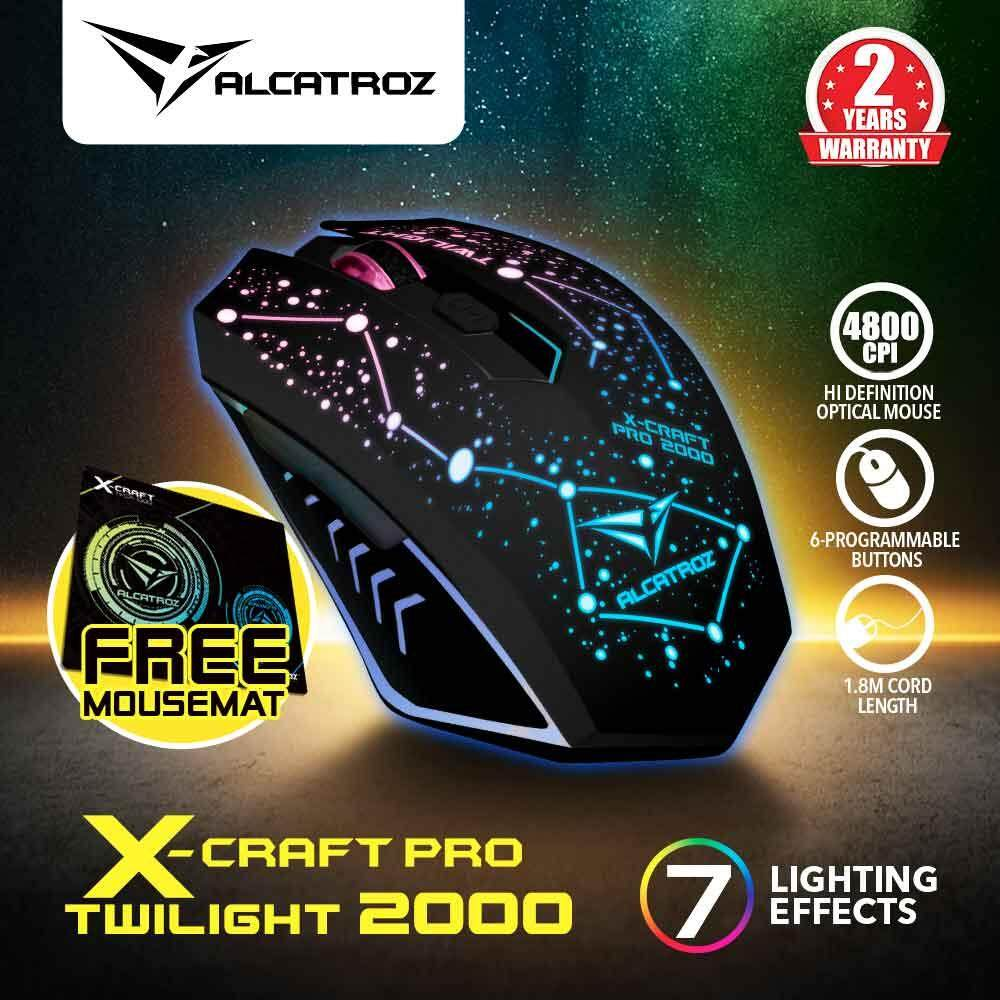 Alcatroz X-Craft Pro Twilight 2000 (4800 CPI) Gaming Mouse Free Mousemat Malaysia