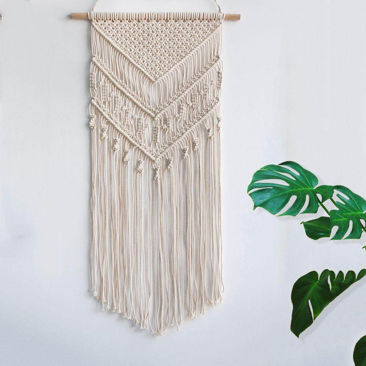 Macrame Woven Wall Hanging Boho Chic Bohemian Home Geometric Art Decor Beautiful Apartment Dorm Room Decoration Free Shipping