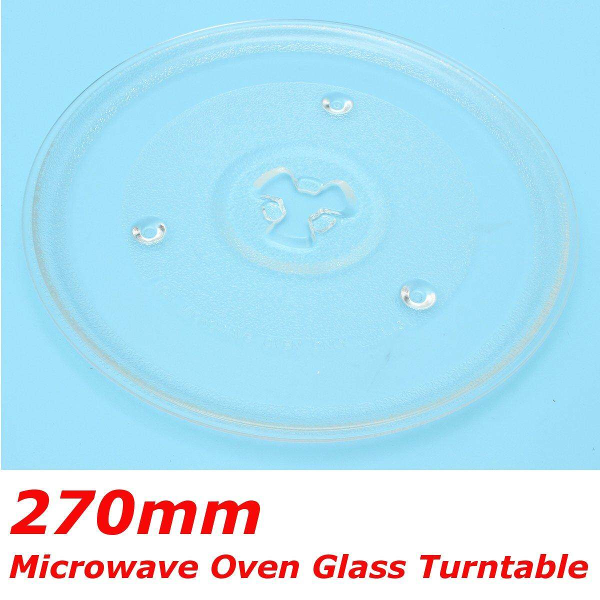 1pc Clear Microwave Oven Turntable Glass Tray Glass Plate Accessories Dia: 27cm By Audew.