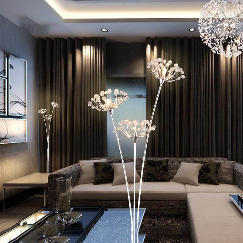 European Living Room Crystal Ins Floor Lamp Creative Bedroom Simple Modern Nordic