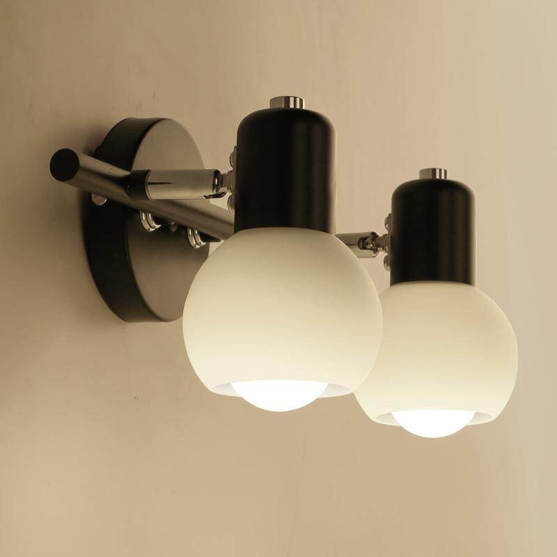 Simple American Mirror Headlights LED Bathroom Mirror Cabinet Lamp European Retro Rotating Wall Lamp Bedroom Dressupg Light