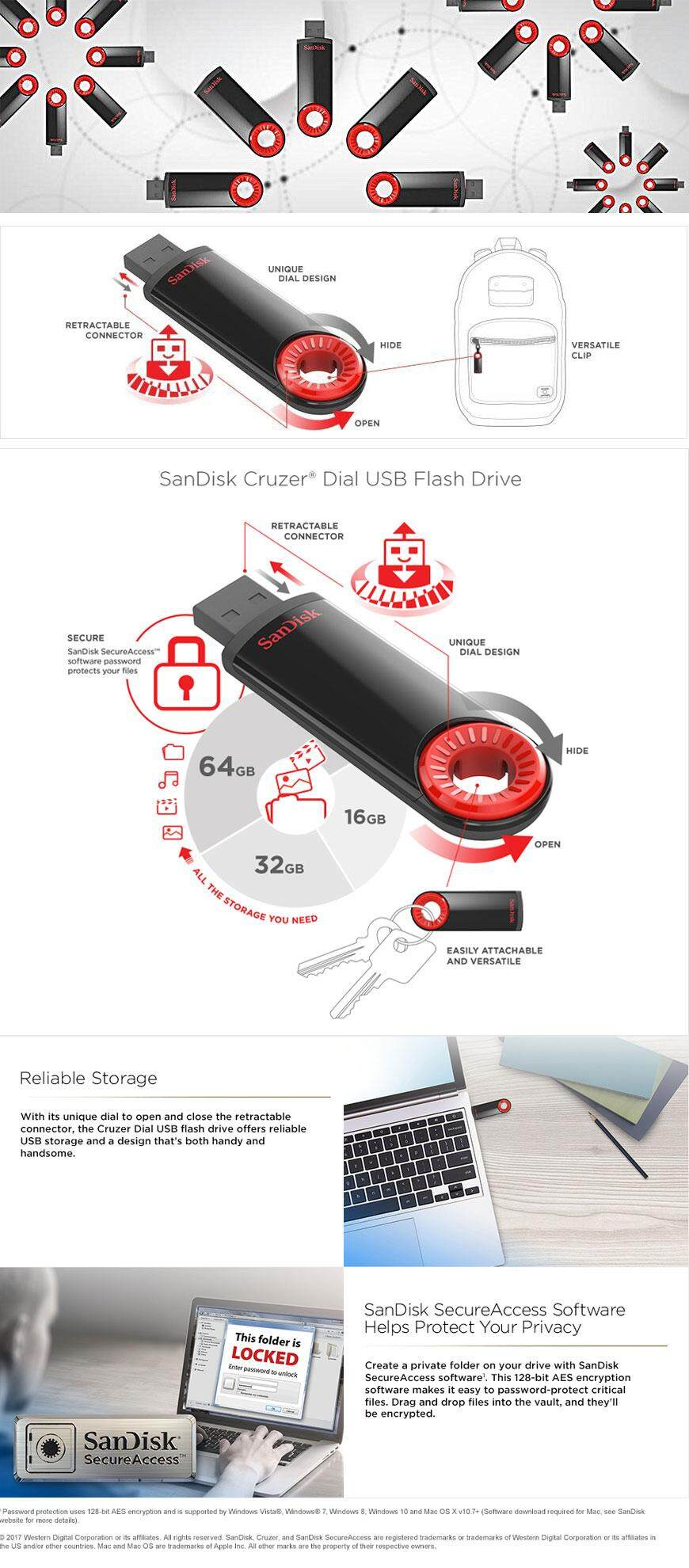 Sandisk Cruzer Dial 64gb Usb 20 Flash Drive Cz57 Malaysia Switch 1 Gigabyte Gb Billion Bytes Some Capacity Not Available For Data Storage Approximations Results Will Vary Based On File Size Resolution