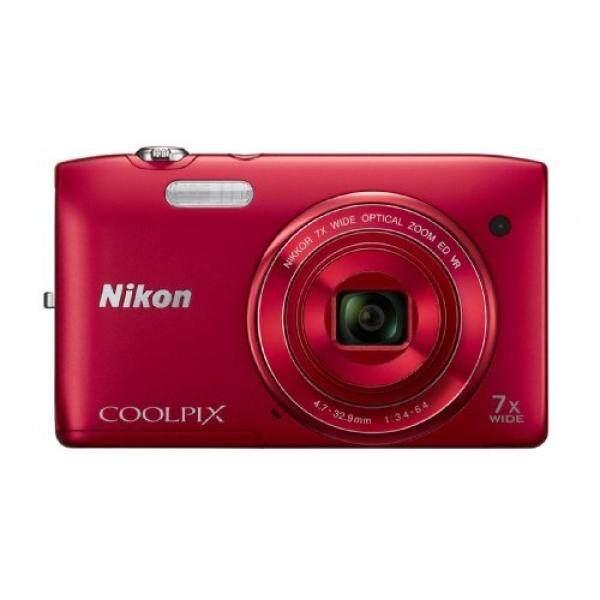 Nikon Coolpix S3500 20.1 Kamera Digital MP dengan 7x Zoom (Merah) (Model Lama)