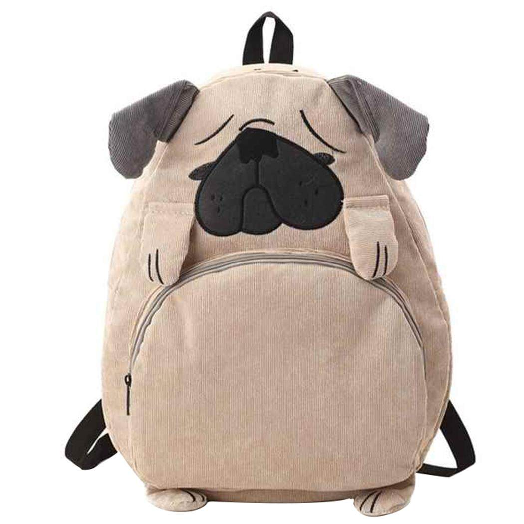 School Backpack Cute Cartoon Fox Dog Shape Student Backpack School Bookbag for Girls - intl
