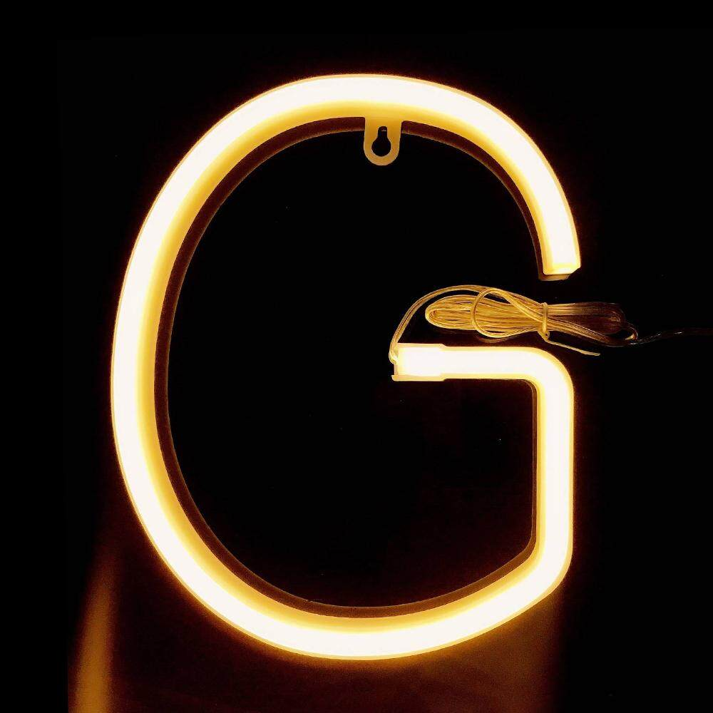 Letter Lamp Operated Powered G Shape Warm White for Home Party Decoration Cafe Shop Restaurant Wedding Function Lamp shape G