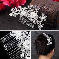 Bunga Pernikahan Tiara Pengantin Sisir Rambut Perhiasaan Jepit Rambut Aksesoris Rambut