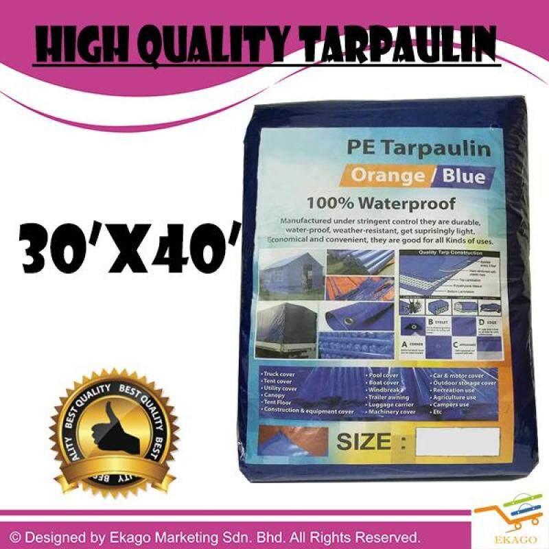 30 X 40 FEET HIGH QUALITY MULTIPURPOSE BLUE ORANGE CANVAS TARPAULIN CANVAS