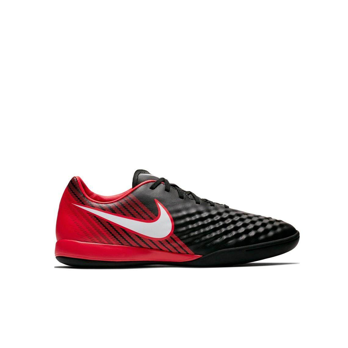 Nike MAGISTAX ONDA II IC-BLACK WHITE-UNIVERSITY RED Sport Shoes Grade 3 231368a284c