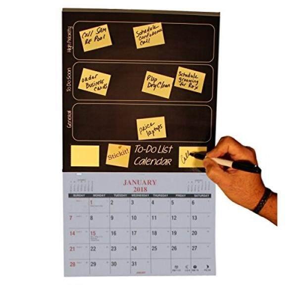 2018 Kalender Dinding Perencana Bulanan-Stickit! Daftar Kegiatan Kalender Tugas Waktu Sistem Manajemen Kalender 2018-Stickit dan Jangan Lupa Itu-Intl