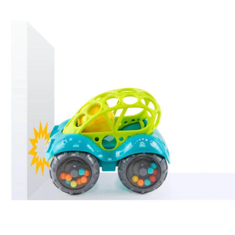 ... born Baby Toddler Kids Toy Oball Rattle and Roll Toy Car (Color:random)