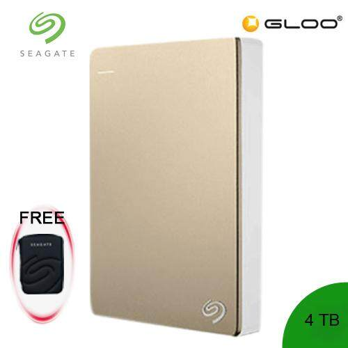 Seagate® Backup Plus 4TB STDR4000405 Portable Drive -Gold [FREE Pouch Casing]