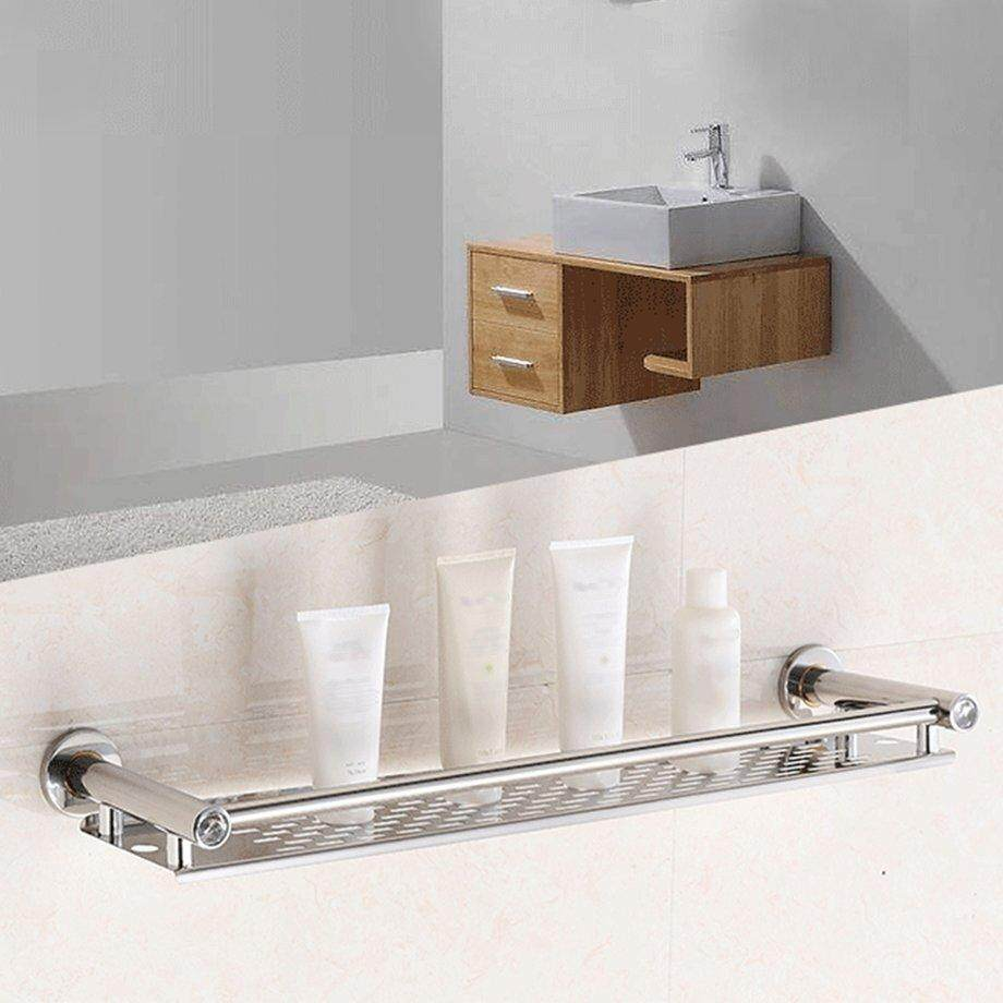 Era 60cm Stainless Steel Anti-Rust Frame Storage Shelf Washroom Bathroom Hanging Rack By Empire Era.