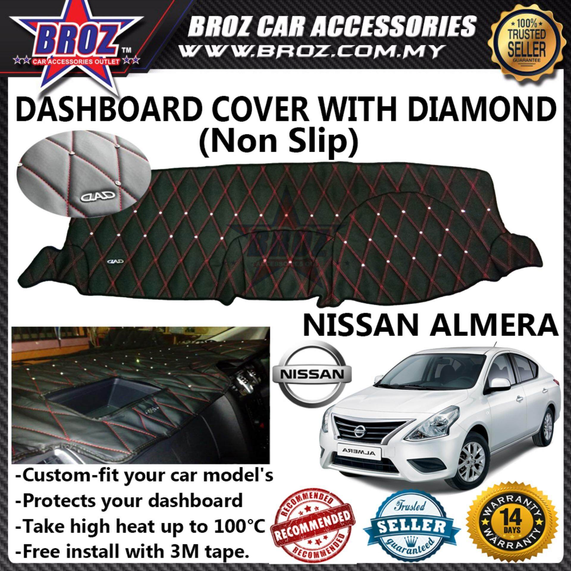 Non Slip Dashboard Cover with diamond for Nissan Almera