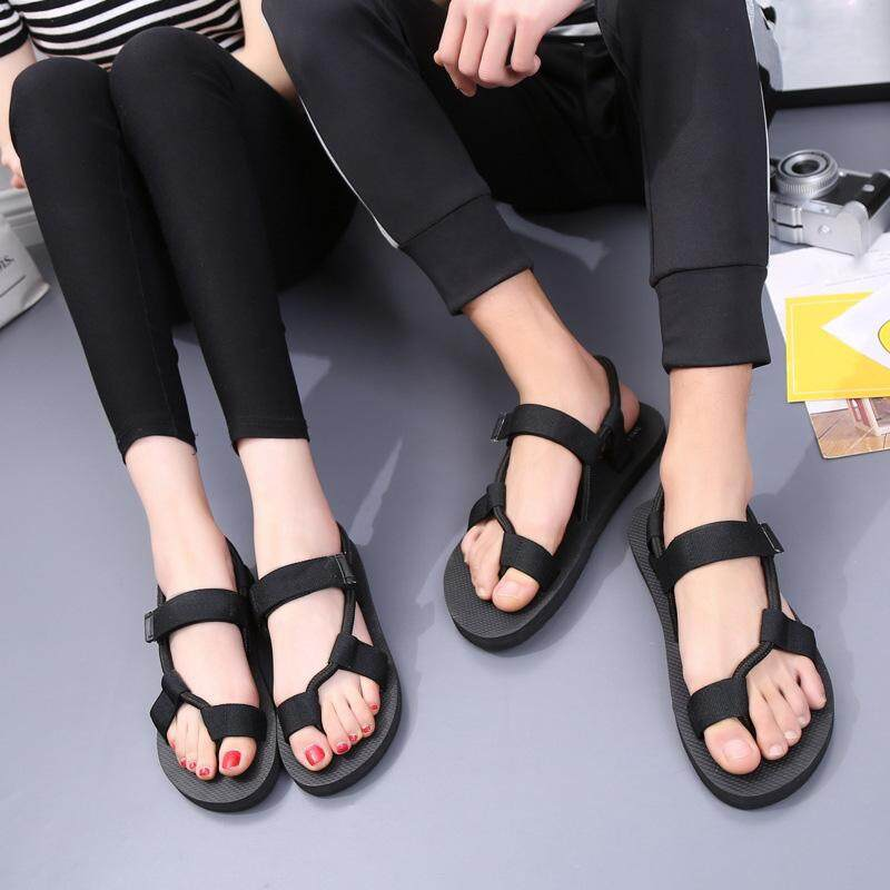 50fdf4d47df7 Amart Fashion Men Women Flat Sandals Elastic Band Anti Skid Girl Summer  Beach Casual Shoes Thong