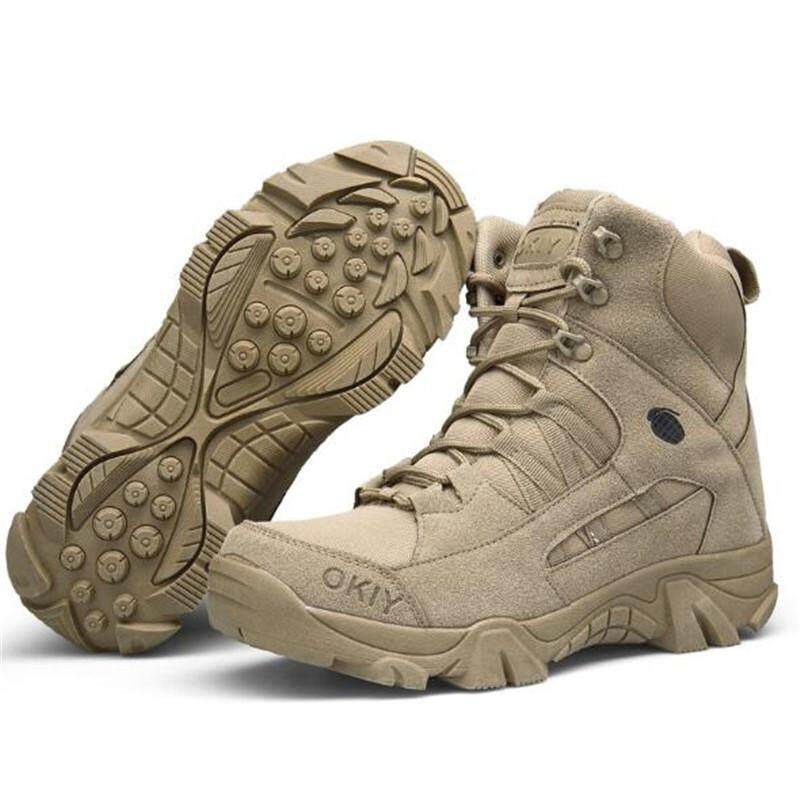 Magic Cube Men Army Tactical Combat Military Ankle Boots Outdoor Hiking Desert Shoes By Magic Cube Express.