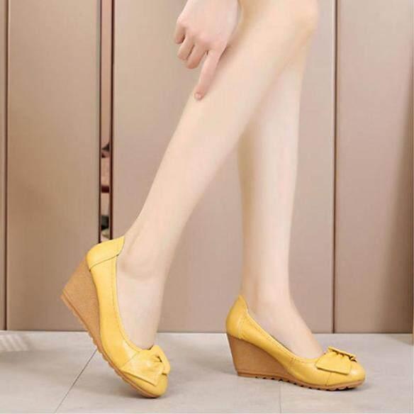 1F169 Giày Cao Gót Nữ UP, Đế Xuồng, Bằng Da, Thoải Mái giá rẻ