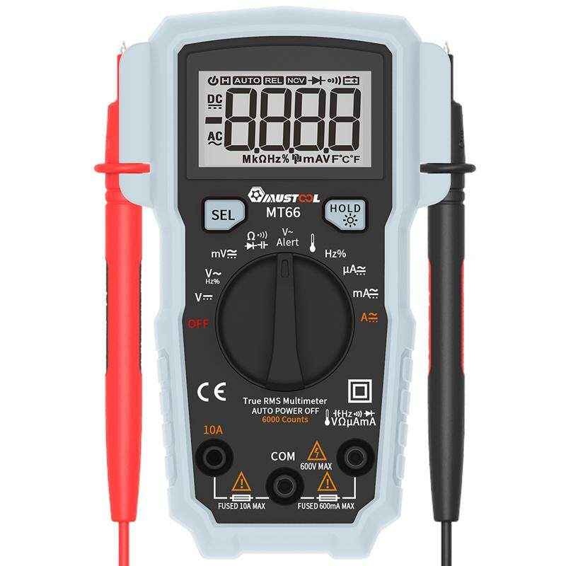 Mustool Mt66 True Rms 5999 Counts Digital Multimeter Ac/dc Current Voltage Frequency Resistance Capacitance Temperature Tester Duty Cycle Diode Continuity V~alert Measurement By Moonbeam.