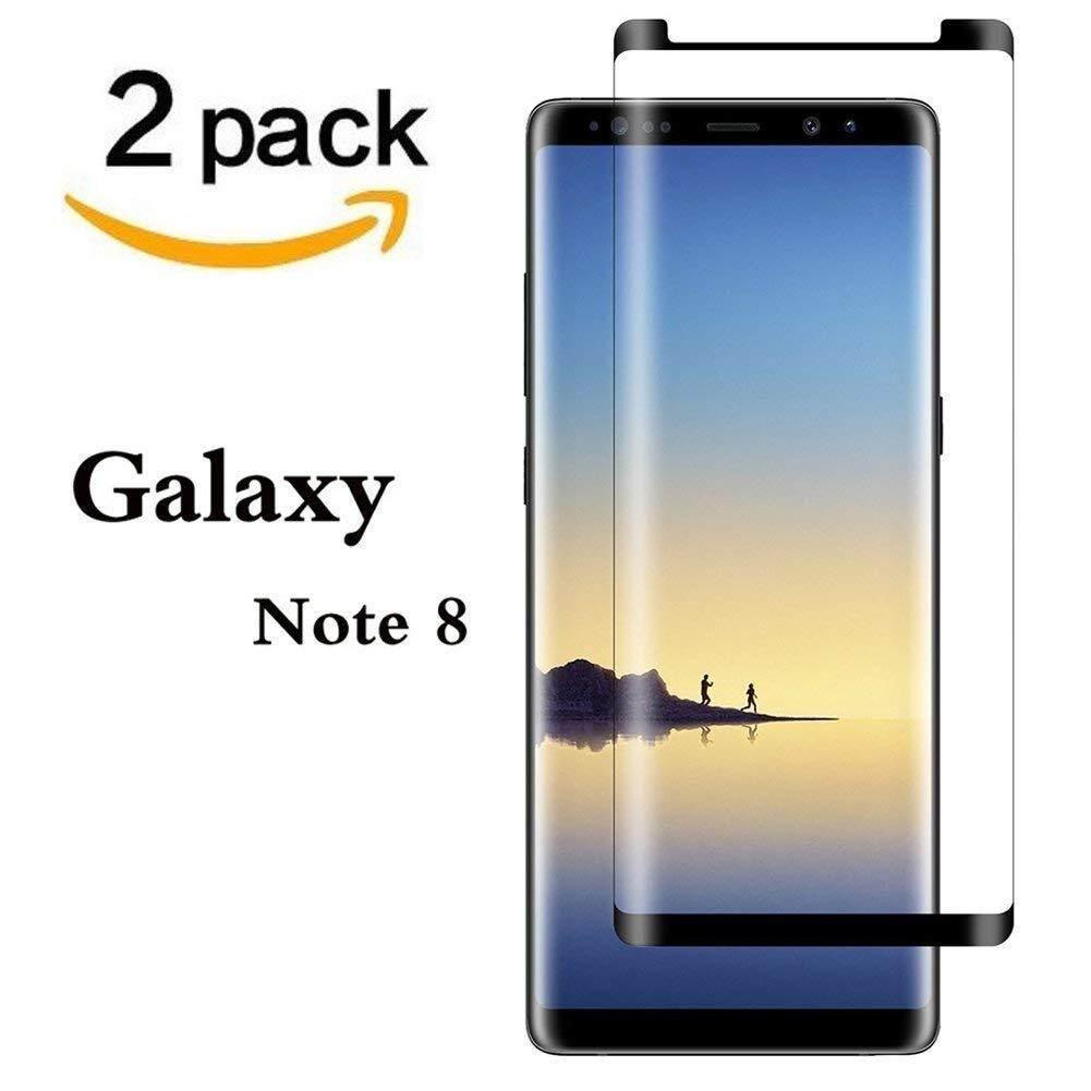 Harga Spesial! cocok untuk [2 Pack] GALAXY NOTE 8 Pelindung Layar, CATATAN 8 Kaca Antigores, Bebas Gelembung, anti Gores, 3D Tepi Melengkung, Kekerasan 9 H Pelindung Layar untuk Samsung Galaxy Note 8