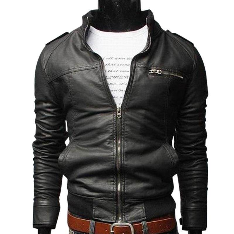 Rd Men Pu Leather Motorcycle Jackets Fashionable Autumn Winter Outwear Coat Top By Redcolourful.