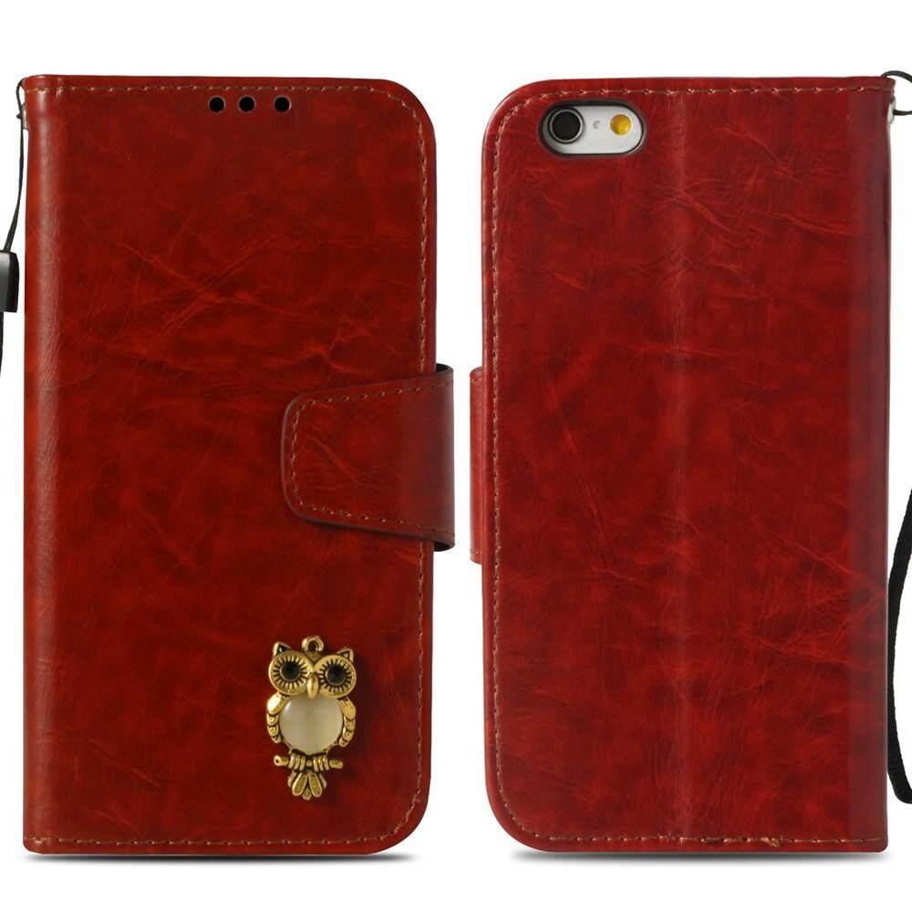 Fitur Case For Apple Iphone 6s 6 Classical 3d Owl Pattern Casing 4 4s Softcase Motif Premium Design Stand Flip