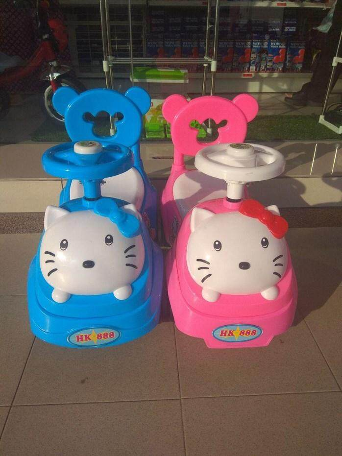 (Pink)Hello Kitty Baby Car  Walker Toddler Children Kid Push Car Ride On Music Press Horn