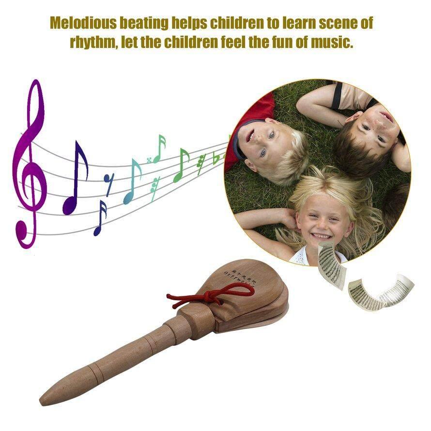 OSMAN Kindergarten Wooden Castanet Clapper Early Education Musical Instrument G8-7