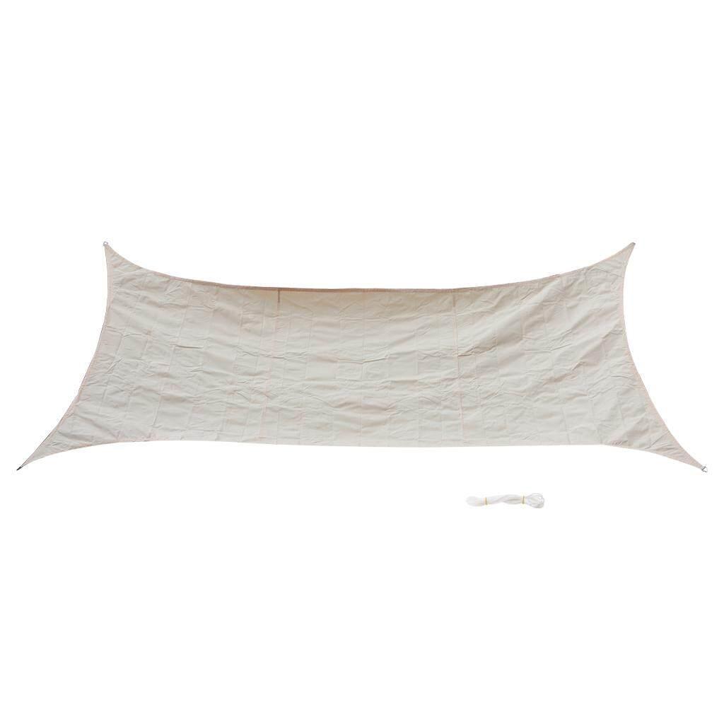 MagiDeal Curved Style UV Block Sun Shade Sail Outdoor Garden Pool Deck Beige 2x4m
