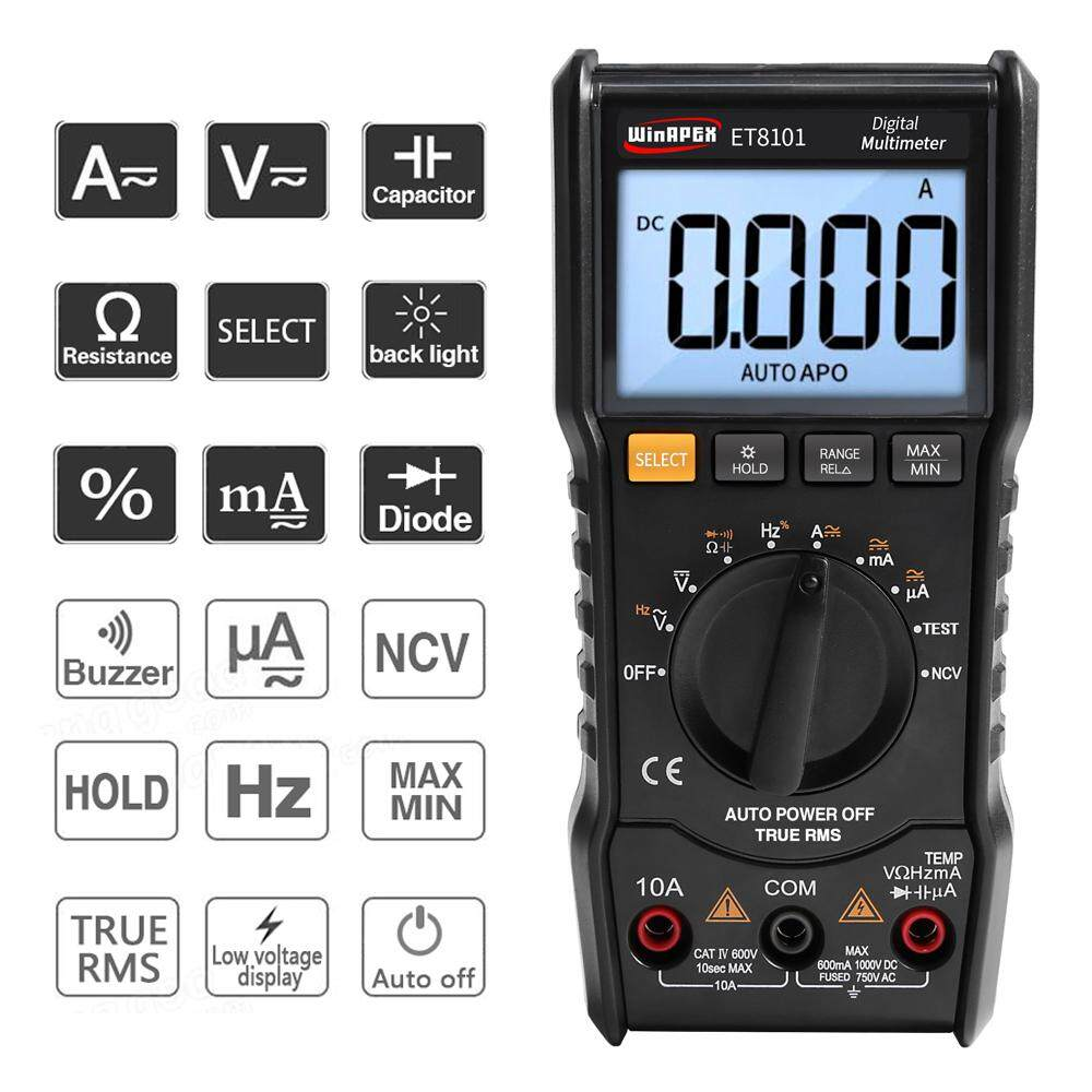 Detail Gambar WinAPEX 6000 Counts Digital Multimeter Full Protection Mini DMM Multifunctional Handheld Multi Meter True RMS Measuring AC/DC Voltage Current ...
