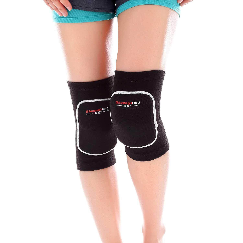 Sealavender Bantalan Lutut, Pelindung Spons Tebal Anti-Tabrakan Pelindung Bantalan Lutut Non-Slip Gulat Tari Bantalan Lutut Bola Voli Penopang Lengan Untuk Olahraga Luar Ruangan (1 Pair) By Sealavender.
