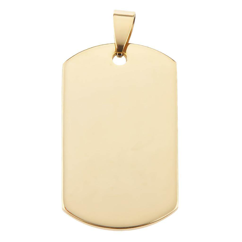 Mua BolehDeals Square Stainless Steel DIY Engraving Blanks Tag Pendants 40*24*1.8-Golden