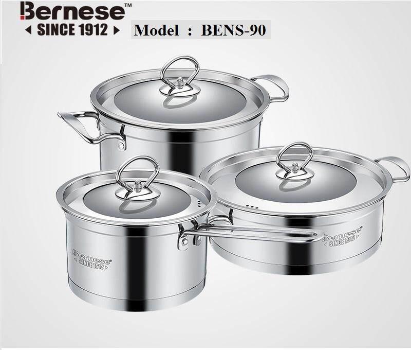 BERNESE STAINLESS STEEL COKWARE 3PCS/SET BENS-90