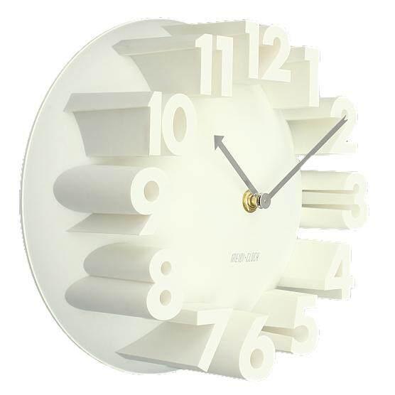 Home Decor Creative Modern Art 3D Number Dome Round Wall Clocks, white 22.5 * 22.5 * 9cm