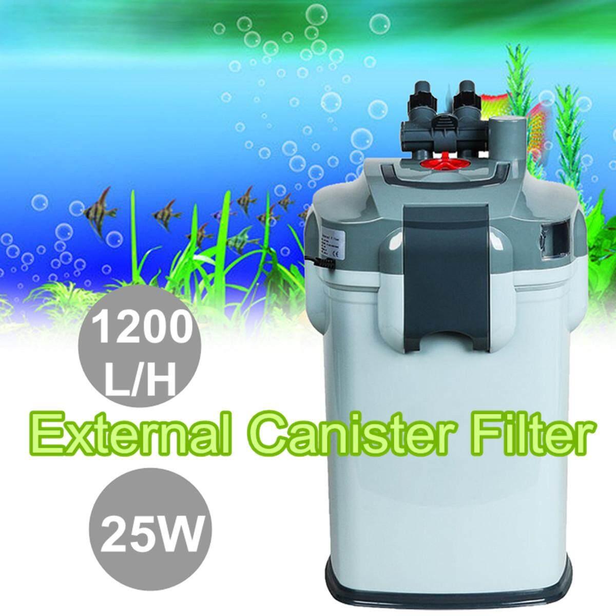 Biopro Eksternal Akuarium Tabung Tangki Ikan Aqua Filter Air 1200LPH Media-Intl .