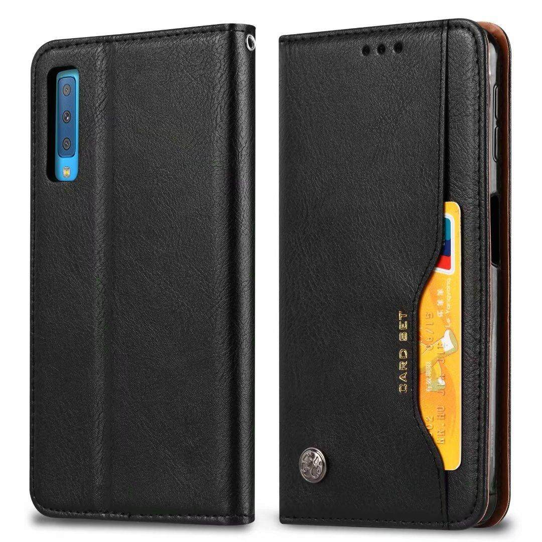 For Samsung Galaxy A7 2018 CAPAS Flip PU Leather Wallet Flip Protective Case 6.0 Inch