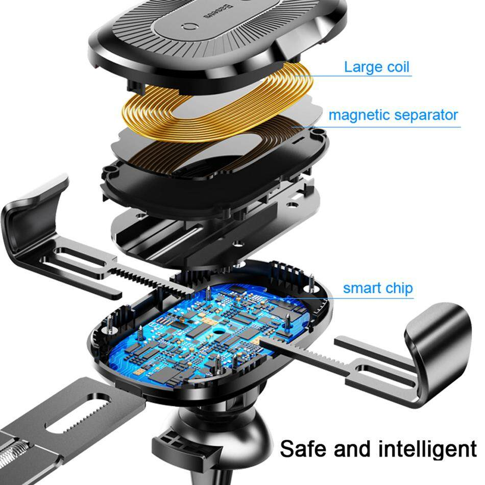 Original Baseus 10W QI Wireless Charger Car Holder For iPhone X 8 Samsung .