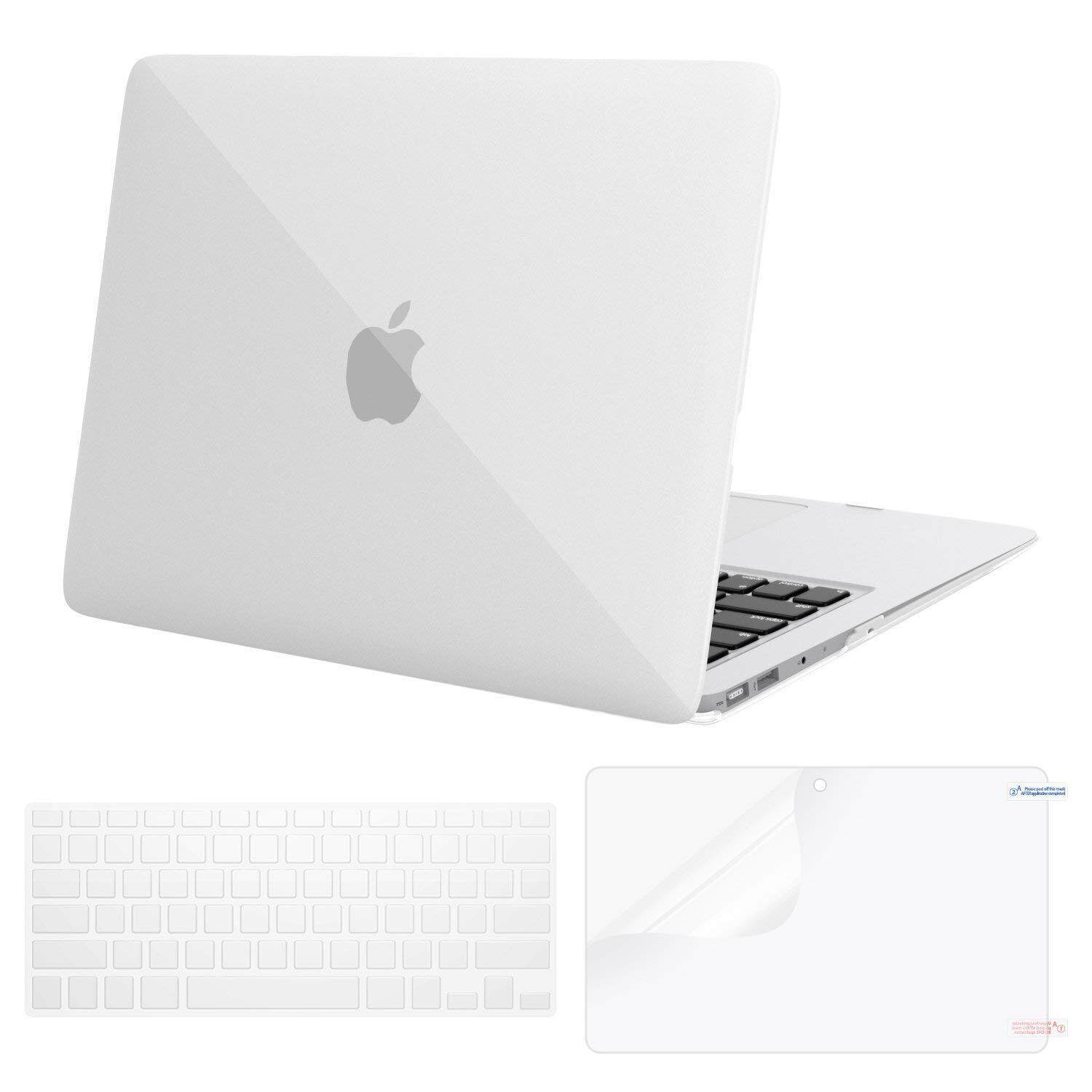 Casing Macbook Plastik Casing Keras Berpola & Penutup Papan Ketik & Pelindung Layar Hanya Kompatibel MACBOOK AIR 13 Inch (A1369 & A1466), tidak Kompatibel 2018 MACBOOK AIR 13 dengan Touch ID