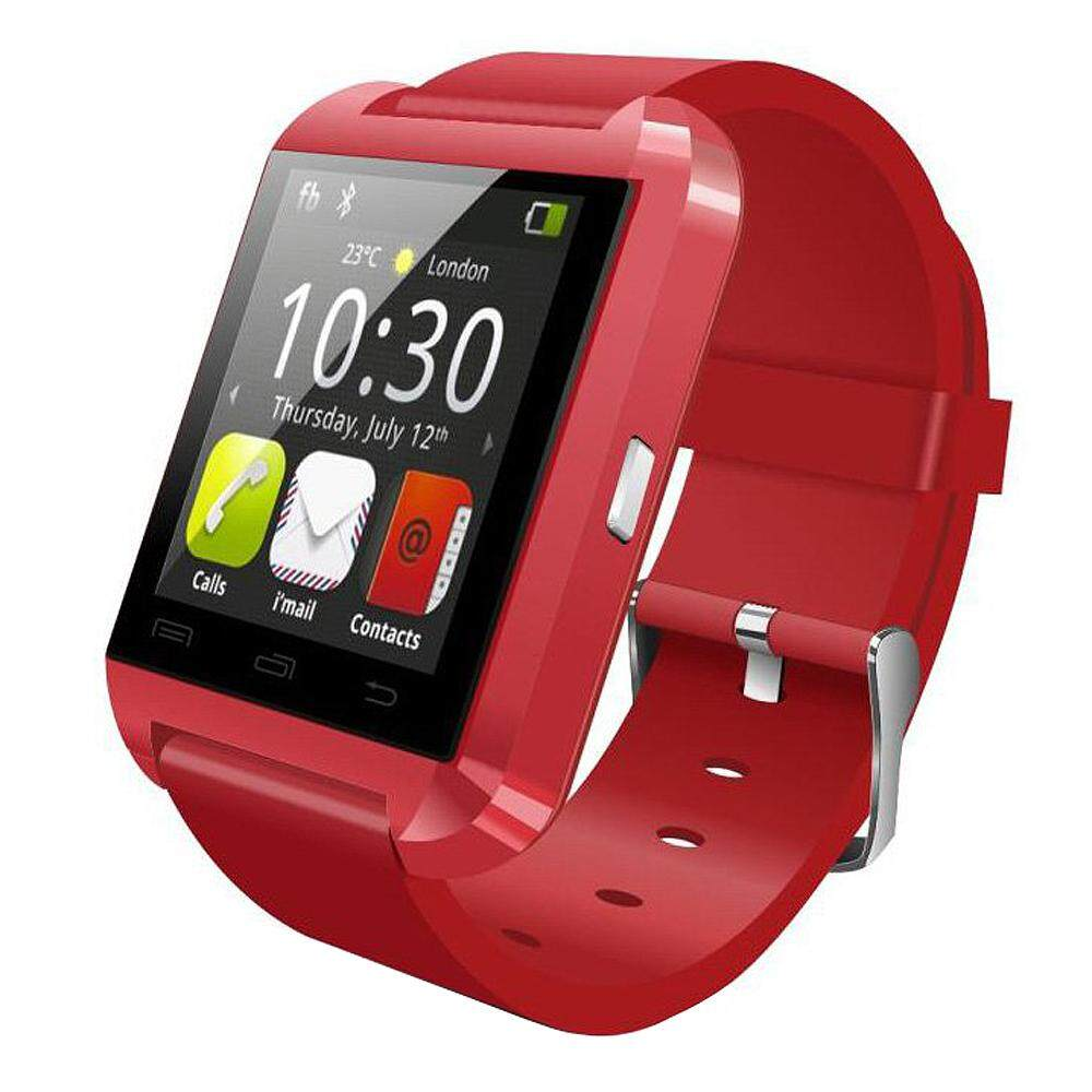 New U8 Bluetooth Smart Watch WristWatch Phone Mate For IOS Android Apple iphone 4/4S/5/5C/5S Samsung S2/S3/S4/Note 2/Note 3 HTC Sony Blackberry...(Red)