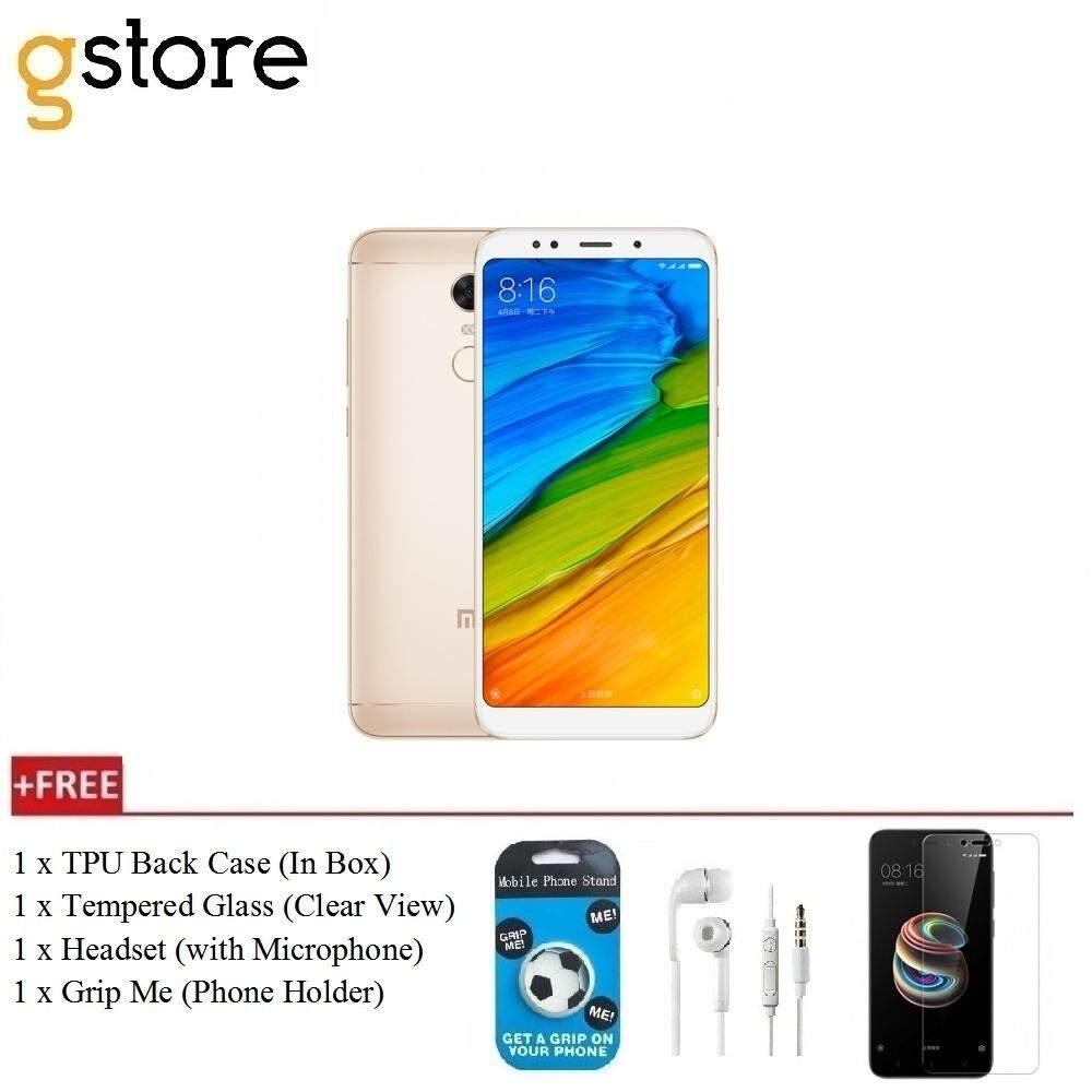 reputable site 4da2f 6e217 Xiaomi Redmi 5 Plus [3GB RAM+32GB ROM/4GB RAM+64GB ROM] Original Set + Free  Standard Pack