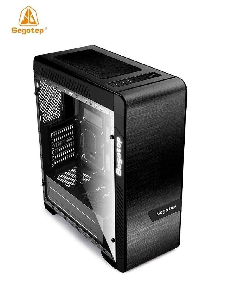 Segotep EOS Tempered Glass (2 Side) FULL ATX Gaming Case (BLK&SILVER) Malaysia