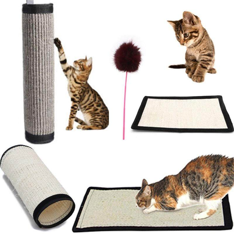 LB Natural Sisal Cat Scratch Board Cat Scratching Mat Pet Toy Home Furniture  Protection