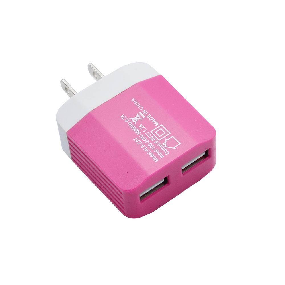 USB 2 Port Dinding Rumah Perjalanan AC Power Adaptor Pengisi Daya US Plug untuk Smartphone-Intl