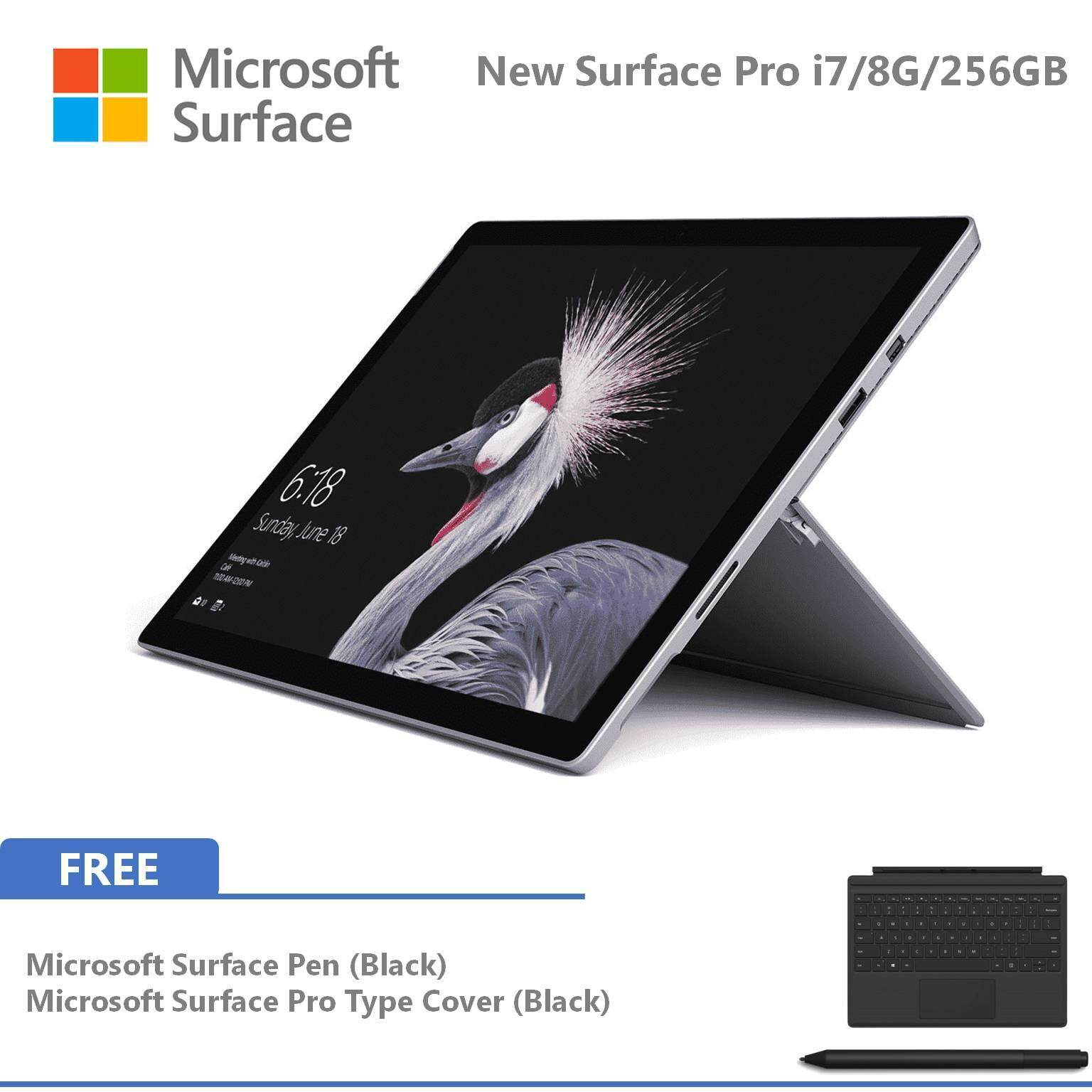 NEW Microsoft Surface Pro - i7 / 256GB / 8GB RAM + Type Cover + Pen Malaysia