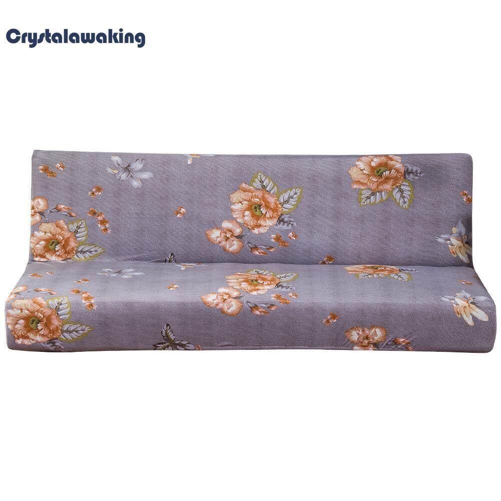 Elastis Sofa Tempat Tidur Sarung Semua-Inclusive Lipat Kasus Anti-selip Sarung (Biru) -L-Internasional