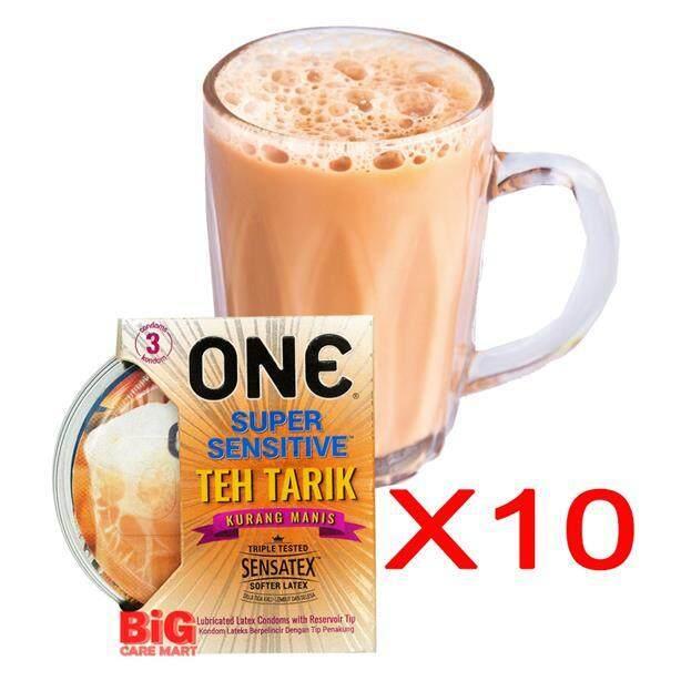 ONE Super Sensitive Teh Tarik Flavored Condoms 3pc X 10 sets