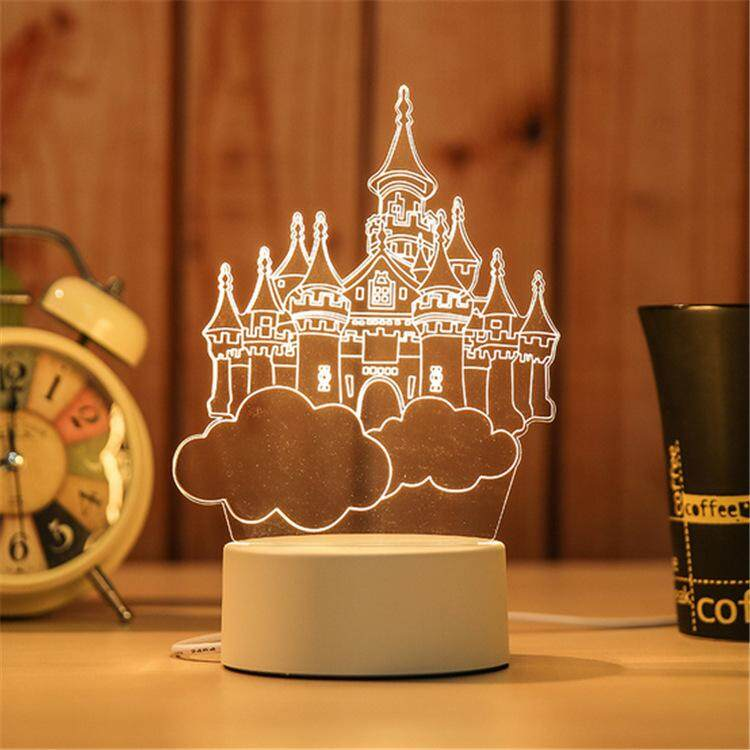 3D Optical Illusion LED Table Night Light(Castle In The Sky)