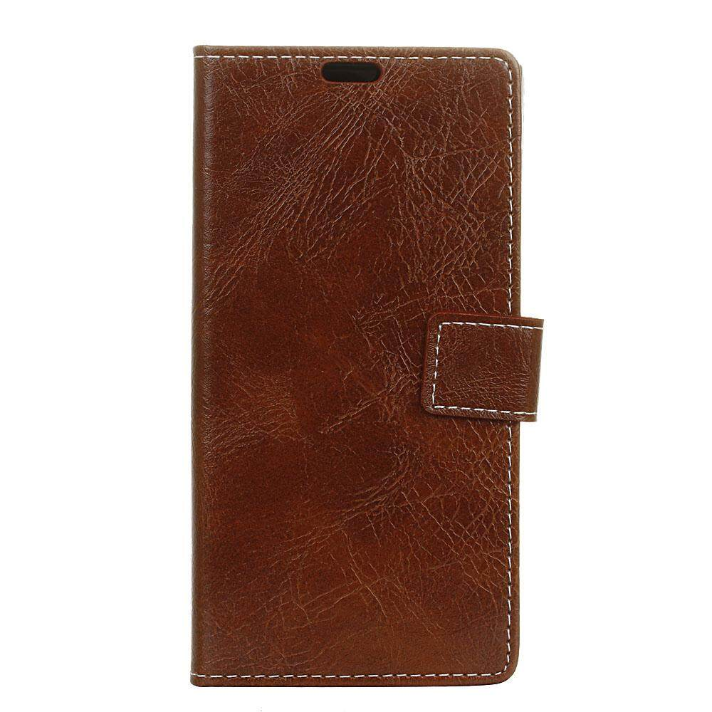Case for HTC U11 Plus Crazy Horse Pattern PU Leather Wallet Case Magnetic Flip Stand Cover with Card Slots Photo Frame - intl