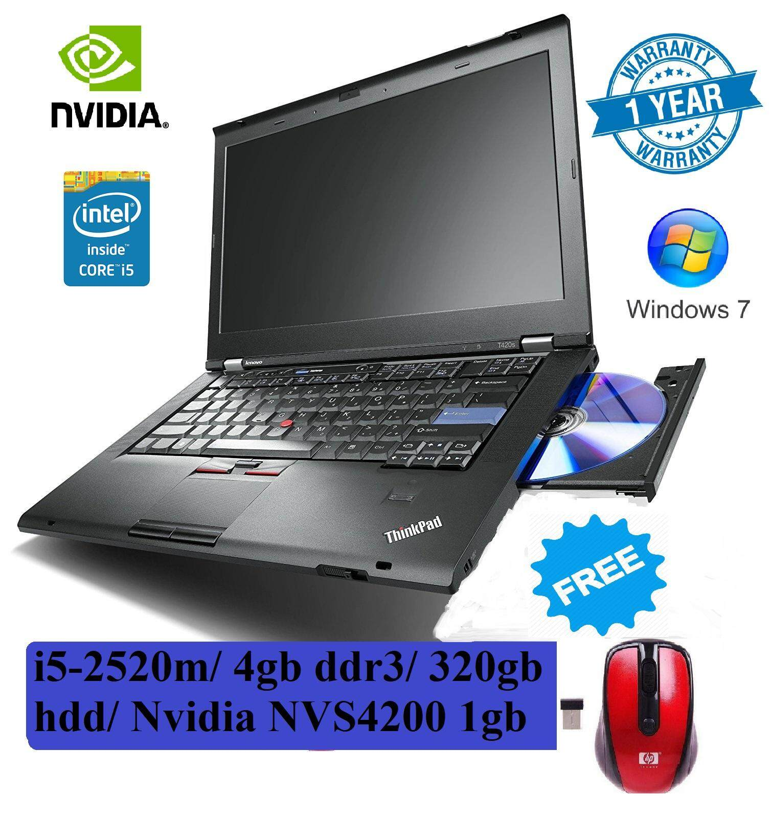 (refurbished) Lenovo thinkPad T420 i5-2520M/4gb/Nvidia 1GB Nvs4200m Malaysia