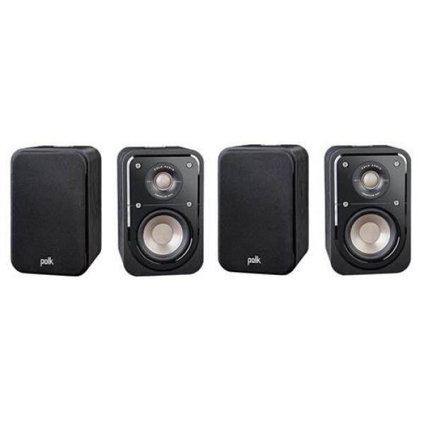 หนองบัวลำภู Polk Audio 2 Pairs Signature Series S10 2-Way American HiFi Home Theater Compact Satellite Surround Speaker  (4 speakers)