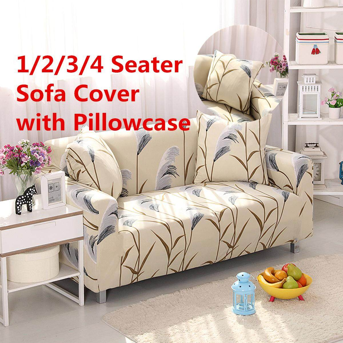 AU Ship Stretch Sofa 1 2 3 Seater Protector Washable Couch Cover Slipcover Decor 85-140cm(Single seat) - intl