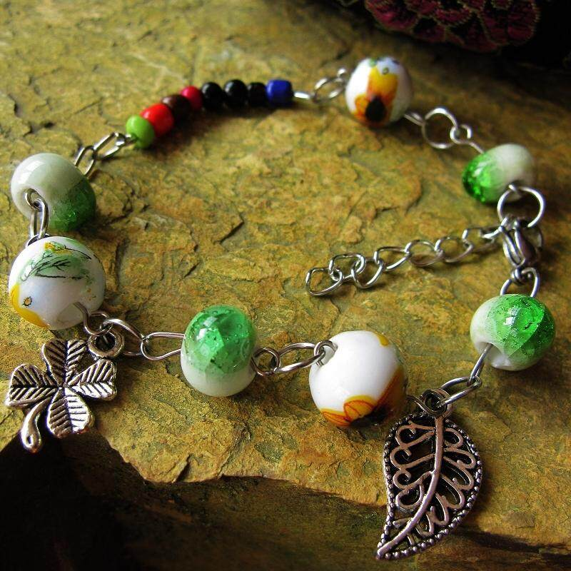 【Sunflower passion】The new jewelry color does not rust jewelry Korean style jewelry multi-color ceramic bracelet